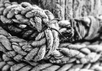 End of the rope BW
